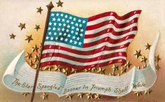 Star Spangled Banner~Counted Cross Stitch Pattern #968~Patriotic Holidays Chart