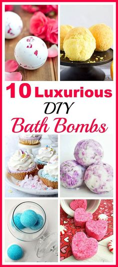 10 Luxurious DIY Bath Bombs- Bring some inexpensive luxury into your life with these luxurious DIY bath bombs! They're easy to make, and create such relaxing baths! | homemade beauty products, DIY gift ideas, spa, relax, homemade gift ideas, DIY beauty, handmade gift