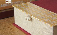 handmade decorative box with delicious vintage pattern caixa decorativa com padrão vintage,  feita à mão