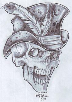 BG Skull 2 by vikingtattoo on DeviantArt Cool Skull Drawings, Skull Artwork, Art Drawings Sketches, Tattoo Drawings, Tattoo Art, Viking Head, Gangster Tattoos, Skull Design, Skull Tattoos
