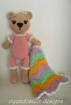 (4) Name: 'Crocheting : Sleepy amigurumi teddy bear