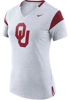 Nike Oklahoma Sooners Womens Fan White Short Sleeve Tee