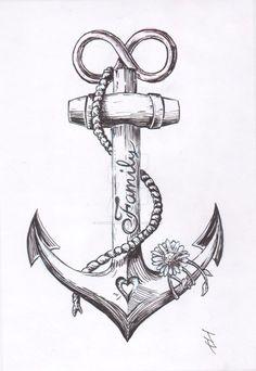 Anchor Tattoo Design by JoshThompsonART.d … auf … – … Spencer – diy tattoo image Anchor tattoo design by JoshThompsonART. Diy Tattoo, Tattoo Fonts, Tattoo Ideas, Tattoo Trends, Body Art Tattoos, Small Tattoos, Sleeve Tattoos, Tatoos, Navy Tattoos
