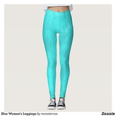 Blue Women's Leggings #Leggings #Yoga #Pants #Activewear #Sports #SportsWear #Athletic #Fashion #Design