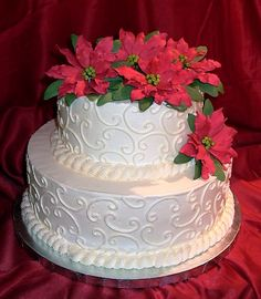 Image detail for -You are here Most Beautiful Flower Poinsettia Wedding Cake 5