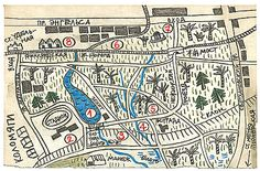 Удельный парк - карта