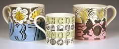 Mugs by Eric Ravilious.