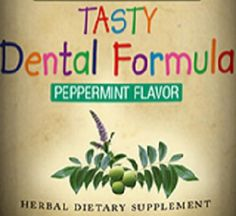 Childrens Tasty DENTAL Formula Liquid Herbal Natural Supplement Healthy Teeth Support Tincture Peppermint FDA Registered USA Facility