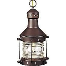 Craftmade Nautical Brass 1 Light Outdoor Hanging Lantern; Burnished Copper (Brown) Z111-7