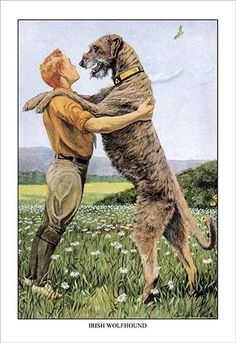 A boy and dog dance. High quality vintage art reproduction by Buyenlarge. One of many rare and wonderful images brought forward in time. I hope they bring you pleasure each and every time you look at