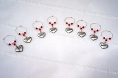 Wine Charms, Wine Glass Charms, Bridal Party Charms, Wedding Favours, Wedding Accessories, Bridal Accessories