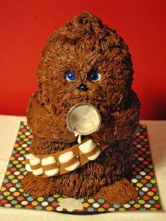 Baby Chewbacca Cake.