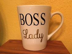 Boss Lady Mug, Boss Gift, Entrepreneur Gift, business owner gift, Boss Lady, Bossy, Girl Boss, vendor gift, manager gift, congratulations
