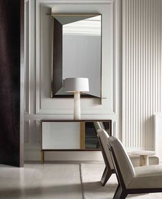 Perspective Mirror by Thomas Pheasant for Baker