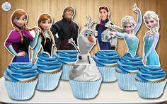 Disney Frozen Cupcake Toppers Disney Frozen by AvaScharlizeShop