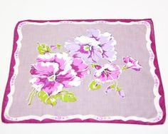 A Vintage Lavender and Violet Linen Handkerchief by ElizabethsHome, $6.00