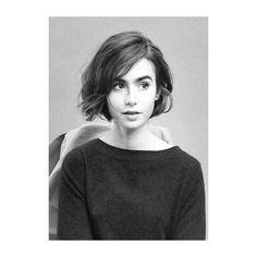 """Képtalálat a következőre: """"lily collins short hair"""""""