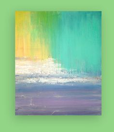 Pastel Original Acrylic Abstract Painting by OraBirenbaumArt, $345.00