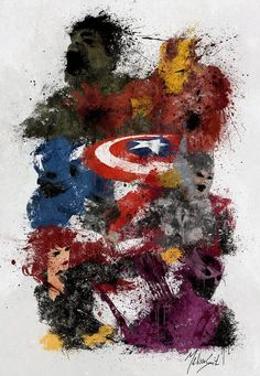 Avengers Assemble by Melissa Smith Marvel und DC Ms Marvel, Marvel Art, Marvel Dc Comics, Marvel Heroes, Captain Marvel, The Avengers, Avengers Poster, Avengers 2012, Comic Books Art