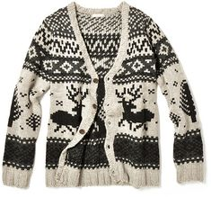 This sweater looks SO comfortable! And look! There are reindeers on it!