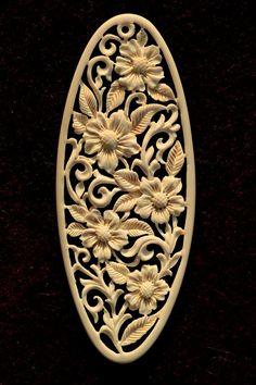 by manuroartis on DeviantArt Wood Carving Designs, Wood Carving Patterns, Wood Carving Art, Bone Carving, Wood Art, Jewelry Design Drawing, Bone Jewelry, Newspaper Crafts, Bird Silhouette