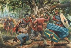 On this day in 9 CE a coalition of Germanic tribes ambushed and utterly destroyed three Roman legions in the Teutoburger Wald. Said Augustus Caesar when learning of the debacle: 'Quintilius Varus, give me back my legions! Military Art, Military History, Ancient Rome, Ancient History, Asterix Y Obelix, Hellenistic Period, Roman Legion, Germanic Tribes, Celtic