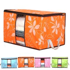 2017 Storage Organization/Designer Flower Printed Quilt Storage Bags/See-through Collapsible Clothes Storage Bags D40JL20     #Affiliate