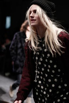 OH GAHHD ANDREJ!!!! Y ARE U SOO PRETTY AND HANDSOME?! | thedownlowe:    Andrej Pejic at Paul Smith Fall/Winter 2011-2012.