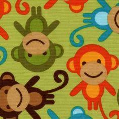 Bermuda Monkeys - Urban Zoology for Kaufman Fabrics  www.quiltropolis.net