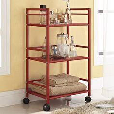 Altra Marshall Three Shelf Rolling Utility Cart & Reviews | Wayfair