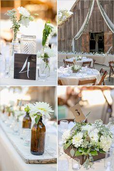 rustic and upcycled reception table decor @weddingchicks