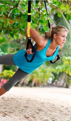 TRX - an amazing workout using your own body weight ... and you can do it anywhere :-) And it is HARD