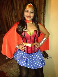 Pretty Handmade Wonder Woman Costume... This website is the Pinterest of costumes