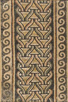 Mosaico decorativo de mármol - Bizantino - C 500 AC