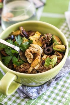 Beef and Avocado Breakfast Bowl   by Sonia! The Healthy Foodie