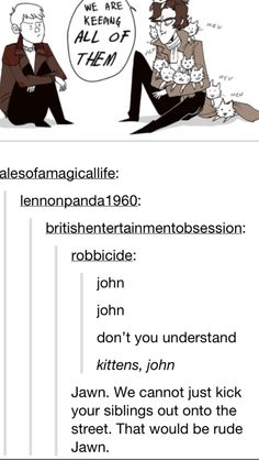 Don't be rude, John! Pretty sure all this waiting around for the next episode is making this fandom insane ;) <-- i love how you are justgetting this now xXD<-- we were insane to begin with Sherlock just brought it out of us. Sherlock Fandom, Sherlock Holmes, Johnlock, Vatican Cameos, Mrs Hudson, 221b Baker Street, Comic, John Watson, Film Serie