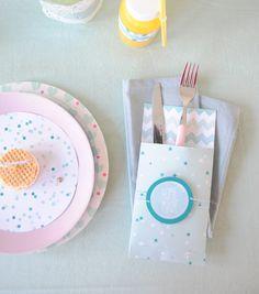Bestekzakje - Cutlery bag Kijk op www.101woonideeen.nl #tutorial #howto #diy #101woonideeen #bestekzakje #cutlerybag