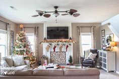 Holiday Home Tour 2014: A Cozy Eclectic Christmas - Bless'er House