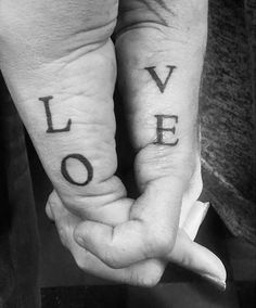 Connecting 'Love' Tattoo for Couples