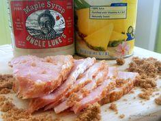 Crock Pot Maple Brown Sugar Ham - NumsTheWord