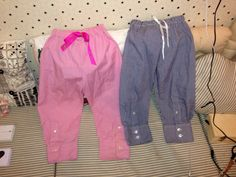 Pyjamas made from old shirt sleeves