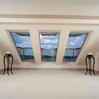 Skylight Loft Conversion London with Velux Balcony Window Balcony Railing Planters, Balcony Window, Roof Window, Attic Window, Window Curtains, Attic Rooms, Attic Spaces, Balcony Design, Window Design