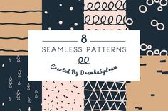 Illustrated Pattern Collection by DrawBabyDraw on Creative Market