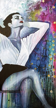 Artistry II original painting by Donna Downey and Stephen Lursen