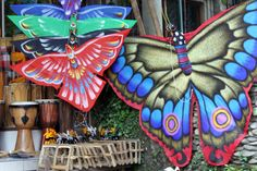 Butterfly kites in Bali   hoping to bring one of these home on our next visit to bali