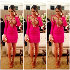 .@Thassia Mutammara Naves | #lookofthenight Vestido @Patricia Smith Bonaldi sandália @Luiza Futuro Barcelos ! #casamento... | Webstagram - the best Instagram viewer
