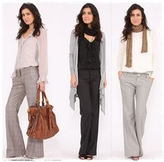 conjunto social feminino com calca para o inverno