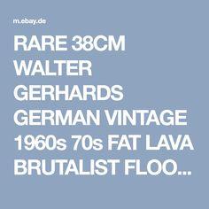 RARE 38CM WALTER GERHARDS GERMAN VINTAGE 1960s 70s FAT LAVA BRUTALIST FLOOR VASE | eBay