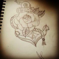 Anchor tattoo Artist: Annabelle Petit  Instagram : annaberu11