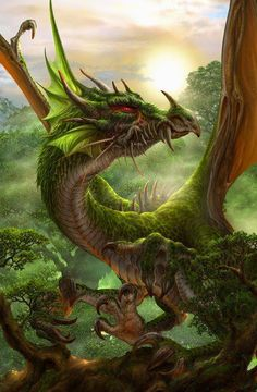 Dragons. Elemental forest/wood/earth dragon, very nice and intricate detail beautiful color scheme